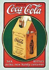"TARGA VINTAGE ""COCA COLA DRINK"" PUBBLICITA', ADVERTISING,POSTER, ART RETRO PLATE"