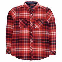 Kickers Long Sleeve Shirt Junior Boys Red/Black/White Checked UK Size 13 Yr *12