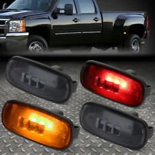 FOR 03-09 DODGE RAM TRUCK 4X DUALLY BED SIDE FENDER LED MARKER CAB LIGHT SMOKED