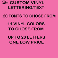 """3"""" CUSTOM VINYL LETTERING/TEXT - Personalized sticker decals for you"""