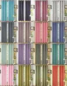 2 PRINTED DESIGN PANEL THERMAL LINED BLACKOUT DRAPE GROMMETS WINDOW CURTAIN K22