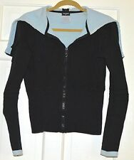 AUTHENTIC AND CASUALLY CUTE CHANEL HOODIE WIDE COLLAR CARDIGAN/JERSEY JACKET