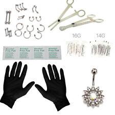 41 Pcs Professional Body Piercing Tool Kit Ear Nose Navel Nipple Needles Set