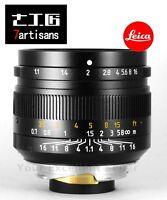 7artisans 50mm F1.1 Leica M Mount Fixed Lens For Leica M240 M6 M7 M8 M9 M9p M10