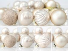 24 pc Ball Christmas Ornaments Shatterproof Christmas Decorations Tree Champagne