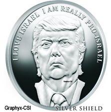 2 2017 1 oz Proof I Love Israel & Make Israel Great Again - Trump Prophecy #5 #6
