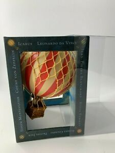 Authentic Models AP160A Floating The Skies Red White Striped Hot Air Balloon NIB