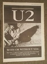 U2 With or Without you 1987 press advert Full page 30 x 42 cm mini poster