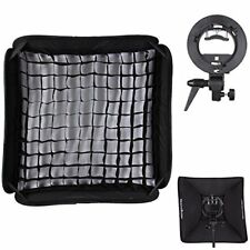 Godox 60x60cm Softbox+S-Type Flash Bracket Bowens Mount Kit for Camera Studio