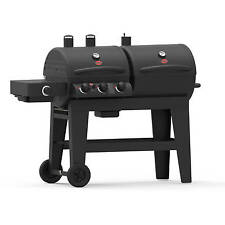 Gas Charcoal Grill Combo Set Outdoor 3-Burner Portable BBQ Grills On Clearance