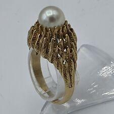 """Art Deco Perle Ring 585 G. Gold Gr. 58 """" Geburt einer Perle"""" Georg Lauer Pforzh."""