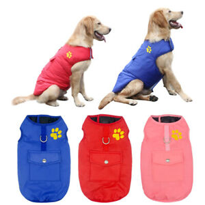 Waterproof Pet Dog Vest Coat Warm Padded Clothes Winter Jacket  Small/Large Dogs