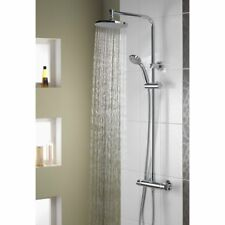 Aqualisa Midas Plus Thermostatic Mixer Shower Designer Chrome Round Twin Head