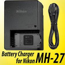 New Nikon MH-27 Charger For Nikon EN-EL20 Battery & J1 J2 Camera Coolpix A S1 J3