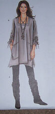 very stylish drape-y TUNIC & LEGGING pattern long shirt xxs-XXL 4-26 skinny pant