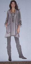very stylish drape-y TUNIC & LEGGING pattern long shirt xxs-XXL 4-26 skinny pant