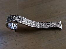 NEW FLEX-ON WATCH BAND BRACELET - Gold Tone Fashion Flex Adj 16-21mm Long P7Y/6