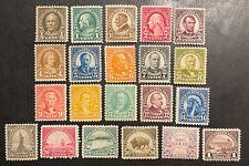 TDStamps: US Stamps Scott#551-571 (21) Mint H OG 25c NG