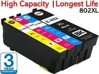 4x Generic 802XL Ink Cartridge For Epson WorkForce Pro WF-4720 WF-4740 WF-4745