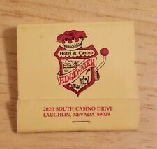 Vintage Matchbook Edgewater Hotel Casino Laughlin Nevada Circusland Rv Park Nv