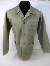 WWII USMC P1941 HBT Herring Bone Twill Combat Jacket or Shirt Uniform Sz 44 NICE