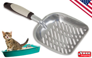 Cat Litter Scooper Metal Scoop Sieve Deep Shovel Cleaner Tool for Cleaning Box