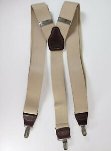 Hold Up Suspender Company No Slip Clips Taupe Adjustable Elastic