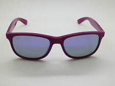 New Ray Ban RB 4202 6071/4V ANDY Matte VIOLET MIRROR 55mm Sunglasses