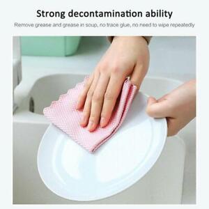 10pcs Microfiber Polishing Fish Scale Rag Super Absorbent Cleaning Cloth US