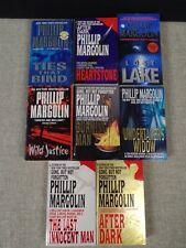 BIG Lot of (9) PHILLIP MARGOLIN Books ~AFTER DARK ~BURNING MAN ~WILD JUSTICE