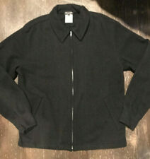 COMME des GARCONS HOMME PLUS BLACK WOOL ZIP UP JACKET SZ MEDIUM