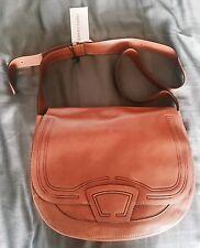 NWT GERARD DAREL Tan Leather Satchel Hobo Bag Medium Shoulder Purse Bag