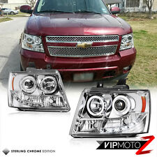 Quad Angel Eye+ LED DRL Projector Headlights Headlamps Suburban Tahoe Avalanche