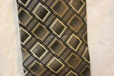 Covington Dress Neck tie 100% silk gray, silver, black