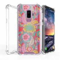For Galaxy S9+ Slim Bumper Shockproof Case Tropic Flowers