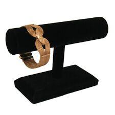 Black Velvet Bracelet & Necklace Jewelry Display Holder Small T-Bar Stand