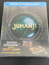 JUMANJI BIENVENUE DANS LA JUNGLE + JUMANJI BLURAY STEELBOOK FRANCE NEUF