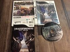 Transformers: The Game (Nintendo Wii, 2007) Used Free US Shipping