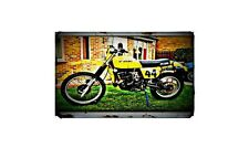 1979 Suzuki Pe250 Bike Motorcycle A4 Retro Metal Sign Aluminium