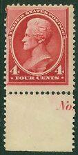 EDW1949SELL : USA 1888 Scott #215 Mint OG. Beautiful margin stamp. Catalog $190.
