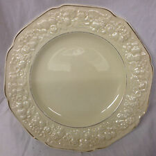 "CROWN DUCAL GOLDEN GLAMOUR DINNER PLATE 9 3/4"" FLORENTINE SHAPE SAND"