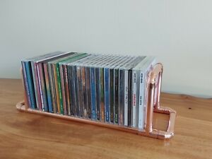 Copper Pipe Storage Rack Stand for CDs DVDs and Console Games. Hand Made in UK