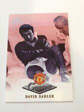 Manchester United Futera Platinum 1999 Greatest Card (DS)