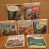 7 GAF United States Travel Series National Park View Master Lot - Grand Canyon