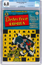 Detective Comics #142 CGC 6.0 DC 1948 2nd Riddler! White Pages! H12 L9 124 1 cm