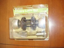 Vintage NOS NIP Amerock Carriage House Door Knobs Antique Brass Locking Interior