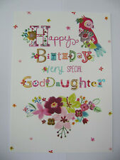 GORGEOUS COLOURFUL VERY SPECIAL GODDAUGHTER BIRTHDAY GREETING CARD