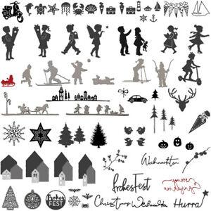 Weihnachten Baum Serie Kinder Stanzschablonen für Scrapbooking Stanze Schablone