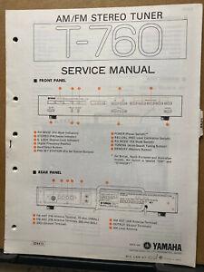 Original Yamaha Service Manual for the T-760 Tuner Repair