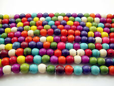 FREE 100pcs Jewelry Mixed TOP Turquoise Round Loose Beads Strand Gemstone 6MM